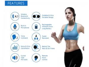 هدفون ورزشی بی سیم بیزاین مدل SH03