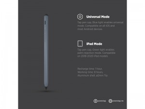 قلم لمسی هوشمند پاورولوژی مدل P21STYPGY Universal 2in1 Smart Pencil