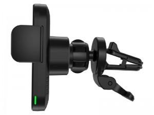 پایه نگهدارنده و شارژر وایرلس گوشی موبایل پاورولوژی مدل PCCSR001 (بهمرا شارژر فندکی و گیره اتصال به دریچه کولر)