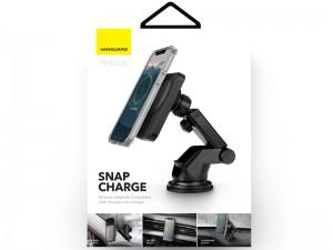 پایه نگهدارنده و شارژر وایرلس گوشی موبایل ویوا مادرید مدل SnapCharge (بهمراه شارژر فندکی و گیره اتصال به دریچه کولر)