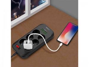 چند راهی برق الدینیو مدل SE6403 (دارای 4 پورت USB)