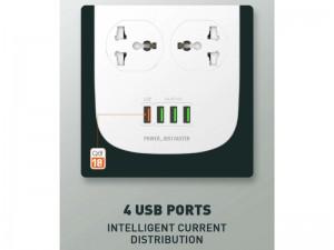 چند راهی برق الدینیو مدل SC4407 (دارای 4 پورت USB)