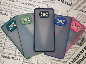 کاور پشت مات دور رنگی مناسب برای گوشی موبایل شیائومی Poco X3/Poco X3 Pro/Poco X3 NFC