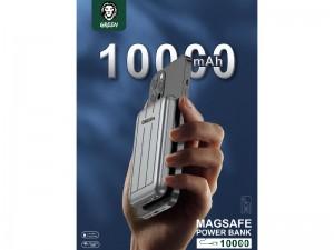 پاور بانک 10000 میلی آمپر وایرلس گرین مدل PB-001 Magsafe 15W