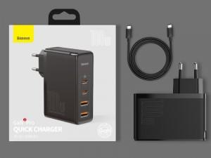 شارژر دیواری فست شارژ 100 وات بیسوس مدل GaN2 Pro CCGAN2P-L01 بهمراه کابل دو سر تایپ سی