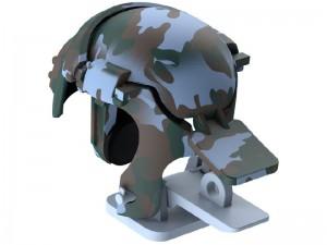 دسته بازی انگشتی بیسوس مدل Level 3 Helmet PUBG Gadget GMGA03-A03