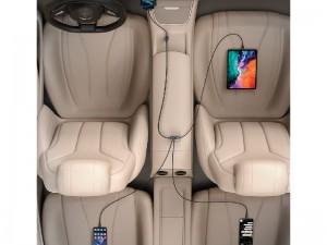 شارژر فندکی فست شارژ بیسوس مدل Share Together CCBX-120C2 CCBT-A0G Car Charger دارای 4 پورت و توان 120 وات
