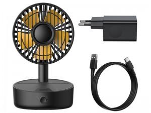 پنکه رومیزی و شارژر وایرلس سریع بیسوس مدل Hermit Desktop Wireless Charger With Oscillating Fan WXYZ-B01