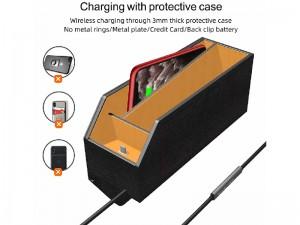جعبه نظم دهنده و شارژر وایرلس سه کاره مدل 3IN1 Wireless Charging Car Storage Box