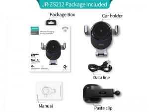 پایه نگهدارنده و شارژر وایرلس فست شارژ گوشی موبایل جویروم مدل JR-ZS212