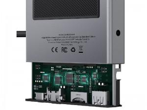هاب چند کاره تایپ سی بیسوس مدل Magic Multifunctional Type-C HUB with a Retractable Clip CAHUB-DA0G
