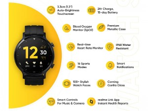 ساعت هوشمند ریلمی مدل Realme Watch S RMA207