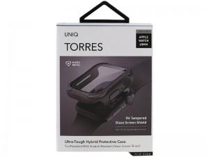 قاب محافظ و گلس یونیک مدل TORRES مناسب برای ساعت هوشمند اپل واچ 44mm