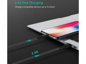 کابل تبدیل USB به Lightning راو پاور مدل RP-CB042 به طول 2 متر