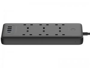 چند راهی برق پاورولوژی مدل Multi-Port Smart Power Strip PD 30W (دارای 3 پورت USB و 1 پورت Type-C)