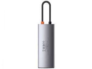 هاب تایپ سی 6 پورت بیسوس مدل Metal Gleam 6 in 1 Multifunctional Type-C HUB CAHUB-CW0G