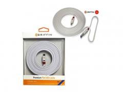 کابل شارژ و انتقال داده 3 متری گریفین مدل premium flat usb