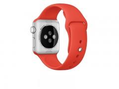 بند سیلیکونی اپل واچ 42 میلی متری رنگ  قرمز