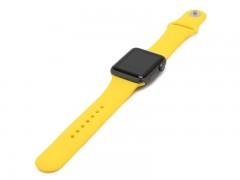 بند سیلیکونی اپل واچ 38 میلی متری طرح اسپورت رنگ زرد