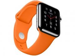 بند سیلیکونی اپل واچ 38 میلی متری طرح اسپورت رنگ نارنجی