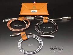 کابل شارژ و انتقال داده فلزی  WUW  مدل X30 مناسب برای آیفون
