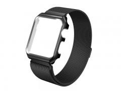 بند فلزي میلانس اپل واچ 42 ميلي متري با محافظ صفحه نمایش فلزی مدل Fashion Watchband