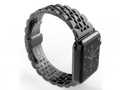 بند فلزي مشکی اپل واچ 42 ميلي متري  سری Strap Band مدل Fashion Watchband