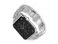 بند فلزي نقره ای اپل واچ 42 ميلي متري  سری Strap Band مدل Fashion Watchband