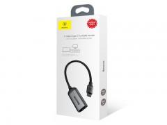 کابل تبدیل USB-C به HDMI f بیسوس مدل Portable Joint Adapter به طول 15 سانتی متر