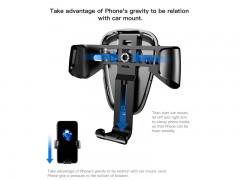 پایه نگه دارنده و شارژر وایرلس گوشی موبایل بیسوس مدل Wireless Charger Gravity Car Mount