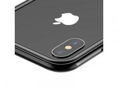 بامپر و محافظ لنز بیسوس مدل Platinum Metal Border Case مناسب برای گوشی اپل آیفون X