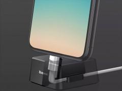 پایه شارژ رومیزی لایتنینگ بیسوس مدل Quadrate Desktop Bracket با کابل بطول 1 متر