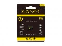 کارت حافظه 8 گیگابایت microSDHC  ایکس - انرژی  کلاس 10 استاندارد UHS-I U1 سرعت 80MBps