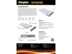 پاور بانک  انرجایزر مدل UE10004QC ظرفیت 10000 میلی آمپر ساعت