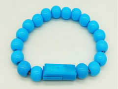 کابل شارژ و انتقال داده MicroUSB طرح دستبند مرواریدی مدل Wearable Bracelet Charging Line بطول 0.24 متر