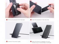 شارژر بی سیم و پایه رومیزی گوشی موبایل بیسوس مدل Metal Bracket Multifunctional Wireless Charging Pad