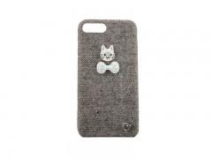 کاور گربه نگین دار پارچه ایی مناسب برای گوشی آیفون 7plus