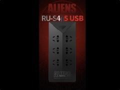 چندراهی برق و هاب USB ریمکس مدل RU-S4