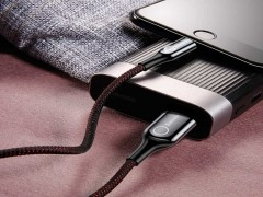 کابل تبدیل USB به Lightning بیسوس مدل C-Shaped به طول 1 متر