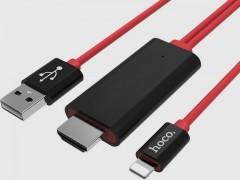 کابل تبدیل HDMI به USB و لایتنینگ هوکو مدل UA4 طول 2 متر