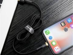 کابل تبدیل USB به لایتنینگ بیسوس مدل Kevlar