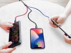 کابل تبدیل USB به لایتنینگ/MicroUSB/USB-C بیسوس مدل MVP 3-in-1 به طول 1.2 متر