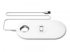 شارژر بی سیم دو کاره بیسوس مدل  Smart 2 in1 Wireless Charger مناسب برای  گوشی موبایل اپل و ساعت اپل واچ