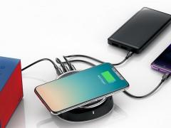 شارژر وایرلس و هاب 3 پورت بیسوس مدل Star 2 In 1 Desktop Wireless Charger