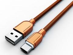 کابل فلزی تبدیل USB به USB-C الدینیو مدل LS62 بطول 1 متر