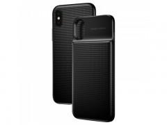 قاب محافظ و پاور بانک وایرلس 5000 میلی آمپر بیسوس مدل Wireless Charge Backpack Power Bank 1+1 مناسب برای گوشی آیفون X