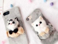 کاور مدل گربه پشمالو مناسب برای گوشی آیفون 7-8 plus