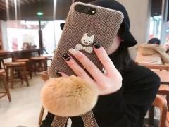 کاور گربه نگین دار پارچه ایی مناسب برای گوشی آیفون 7-8