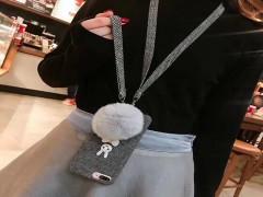 کاور گربه نگین دار پارچه ایی مناسب برای گوشی آیفون 6