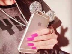 کاور ژله ای نگین دار طرح میکی ماوس مناسب برای گوشی موبایل اپل آیفون 7/8